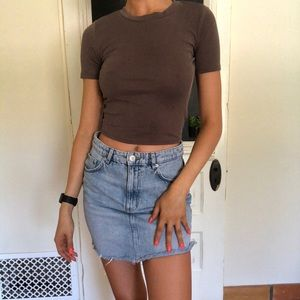 Urban Outfitters brown crop too